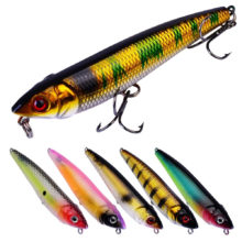 Pencil Popper 91mm 10g fishing lures floating Fishing Lure artificial 3D Eyes hard temptation tackle Pesca crank bait topwater