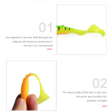 Cannibal Curved Tail Fishing Lures Artificial Wobblers Soft Baits Silicone Shad Worm Bass leurre souple