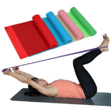 1.5m Yoga Pilates Stretch Resistance Band Exercise Fitness Band Training Elastic Exercise Fitness Rubber 150cm natural rubber