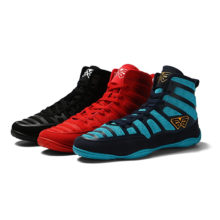 New Men Professional Boxing Wrestling Shoes Rubber Outsole Breathable Combat Sneakers Lace-up Training Fighting Boots