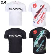 DAWA 2019 Fishing Clothing Summer  Anti-UV Ultrathin Fishing Shirt Short Sleeve Deep Sea Sunscreen Breathable Clothes