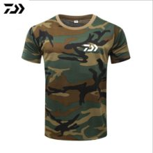 Fishing T Shirt Summer Man Short Sleeve Camouflage Fishing Clothing Outdoor Sport Breathable Quick Dry Fishing Clothes