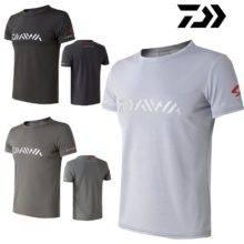 Comfortable Daiwa Men Fishing Clothing Short Sleeve Summer Fishing T-shirt Breathable Quick Dry