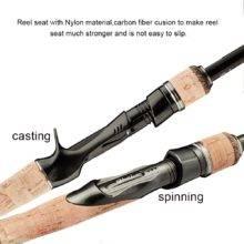 HURRICANE 1.8m 2.1m 2.4m 2.7m 3 section baitcasting fishing rod travel ultra light casting spinning lure 5g-40g M/ML/MH Rod