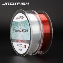 100M Fluorocarbon Fishing Line  red/clear two colors 4-32LB Carbon Fiber Leader Line  fly fishing line pesca