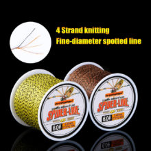 Angryfish 4 Strands 100m PE Braided Fishing Line Camouflag Yellow Brown and Green  Strong endurance 10-60LB