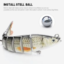 Sinking Wobblers Fishing Lures Jointed Crankbait Swimbait 8 Segment Hard Artificial Bait For Fishing Tackle Lure