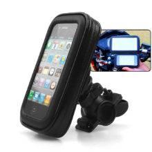Motorcycle Handlebar Phone Holder Zipper Pocket Waterproof PU Leather Pouch Universal for Harley Kawasaki Yamaha Cruiser Touring