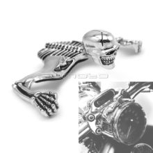 Steel Skeleton Decorative Figure For Harley Motorcycle 4.5