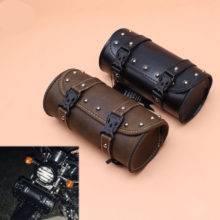 1pcs Motorbike Mini Retro Synthetic Front Forks Tool Bag Luggage SaddleBag Universal for motorcycle Custom Harley Honda Yamaha