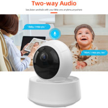 SONOFF GK-200MP2-B Mini Wireless Wifi Camera IP Ewelink APP 360 IR 1080P HD Baby Monitor Surveillance Security Alarm Smart Home
