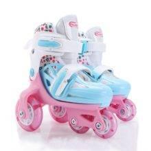 Double Line Roller Skates For Kids Adjustable 4-wheel Skates Shoes Professional PU Flashing Wheel Children Rollerblade Sneakers