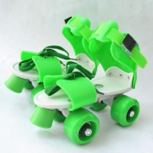 Children Two Lines Roller Skates Double Row 4 Wheel Skating Shoes