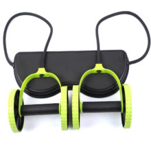 Power Roll Abdominal and Full Body Workout Double Wheel Arm Waist Leg Trainer Home Gym Fitness
