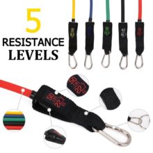 16 PCS Resistance bands Set Fitness Latex Tubes Rubber Loop Band for Crossfit Resistance Training, Home Gyms Yoga