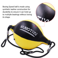 Boxing Speed Ball with Inflator Gourd Hook Pear Double End Boxing Ball for Muay Thai Boxing Punching Dodge Sandbag Punching Bag