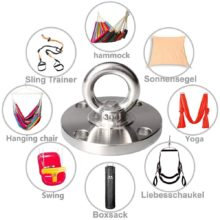 Suspension Strap Trainer Ceiling Mount Anchor Yoga Swing Hammock Hooks for Gym Rings Boxing Battle Rope