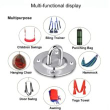 Boxing  Sandbags Fitness Training Hanger Ceiling Mount Hook Aerial Yoga Fixed Disk Fan/Leisure Sofa/Sandbag/Hammock/Swing Hook