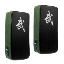 2Pcs Karate Taekwond Thai Kick Boxing Strike Curved Arm Pad MMA Muay Focus Punch Shield Mitt