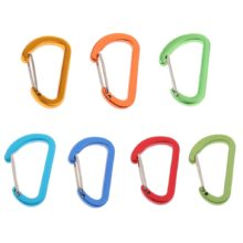 1pcs 4mm Mini Aluminum Alloy Carabiner Outdoor D Shape Quickdraw 1.57 x 0.96inch for Mountaineering Camping Hiking Travel