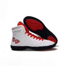 Men Professional Boxing Wrestling Shoes Rubber Outsole Breathable Combat Sneakers Lace-up Training Fighting Boots