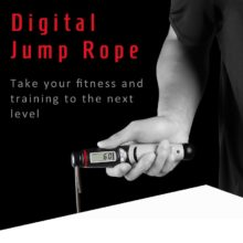 Jump Rope Digital Counter for Indoor/Outdoor Fitness Training Boxing Adjustable Calorie Skipping Rope Workout for Women,Men