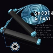 Jump Rope Crossfit Skipping Rope Adjustable 3M Training Cable With Bearing Steel Wire