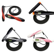 Jump Ropes With Counter Portable AntiSlip Adjustable Jump Rope LCD Digital Integrated Fitness Jump Rope