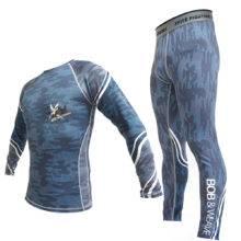 KickBoxing Set Compression tights Jersey Pants BJJ Rashguard mma for men Tight Trousers Muay Thai