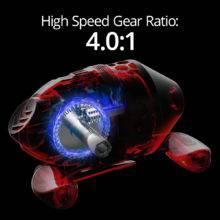 KastKing Brutus Fishing Reel 4.0:1 Gear Ratio 5+1 Ball Bearing 5kg Max Drag Fishing Coil Spincast Reel With 10LB Fishing Line